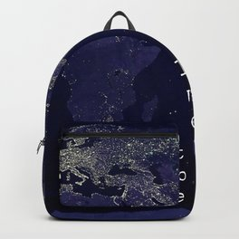 Not all those who wander are lost Backpack