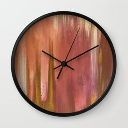 Blush with Gold Abstract Wall Clock