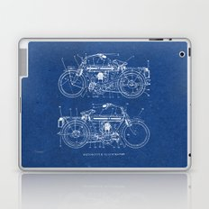 Motorcycle blueprint Laptop & iPad Skin