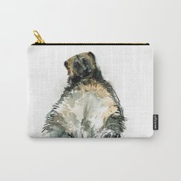 Sleepy Gulo gulo watercolor Carry-All Pouch