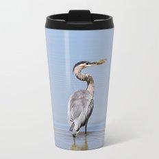 Great Blue Heron Fishing - I Metal Travel Mug