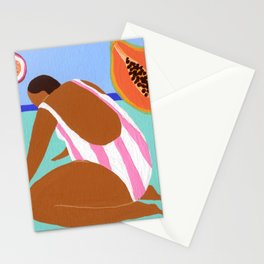 Pink papaya passionfruit Stationery Cards