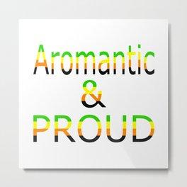 Aromantic and Proud (white bg) Metal Print