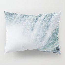 Landscape Photography | Niagara Falls | Waterfall | Aqua | Mist | Fog | Blue | Marine Pillow Sham