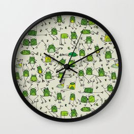 Happy Frogs Wall Clock