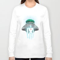 castle in the sky Long Sleeve T-shirts featuring Night Castle in the Sky by Vincent Trinidad