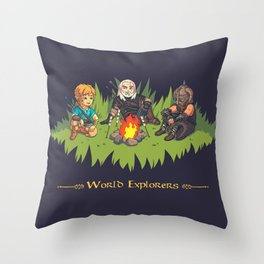 World Explorers Throw Pillow