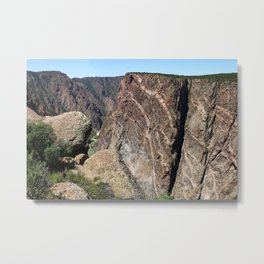 Painted Black Canyon of the Gunnison Walls Metal Print