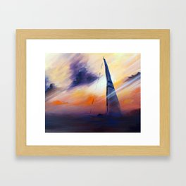 Untitled Boat on the Sea  Framed Art Print