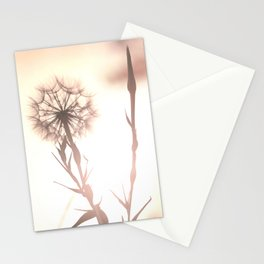 Pink Distant Dandelion Flower - Floral Nature Photography Art and Accessories Stationery Cards