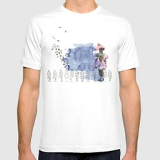 to grow up MEDIUM White Mens Fitted Tee