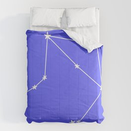 Libra (White & Azure Sign) Comforters