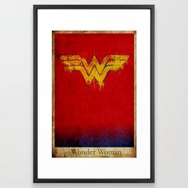 Wonder Logo Framed Art Print