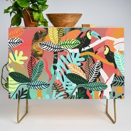 Sunset in the jungle Credenza