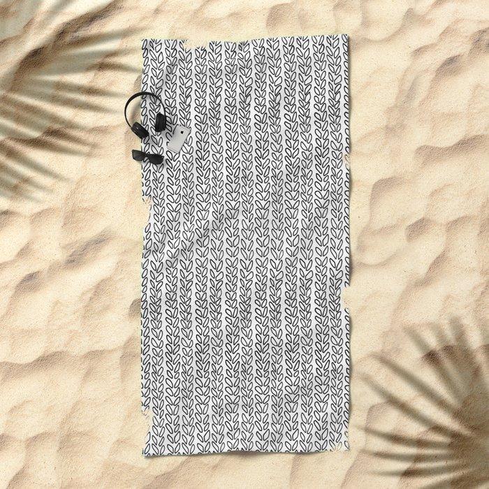 Knit Outline Beach Towel