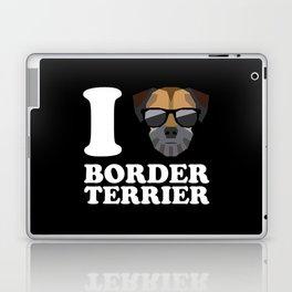 I Love Border Terrier modern v2 Laptop & iPad Skin
