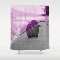 leaf Shower Curtains featuring Leaf by Aloke Design
