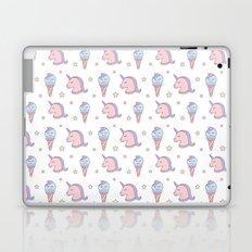 Cute Dreamy Unicorns and Ice Cream Pattern Laptop & iPad Skin