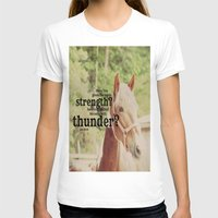 scripture T-shirts featuring Job 39: 19 Horse Scripture by KimberosePhotography