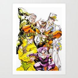 Jojo Bizarre Adventure Art Print