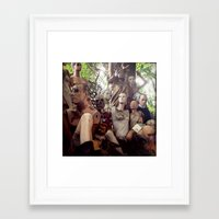 animal crew Framed Art Prints featuring crew by SarahPerez