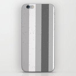 Asymmetrical Multi Value Grey Flecked Jagged Stripes iPhone Skin