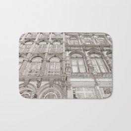 Facades - line art Bath Mat