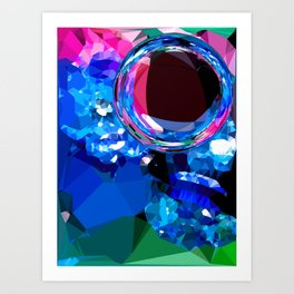 planet polygons Art Print