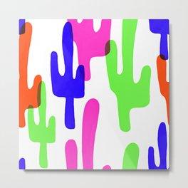 Colorful Cacti Metal Print