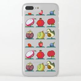 Super Fruits Yoga Clear iPhone Case
