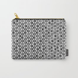 Black and White Small Hexagonal Pattern Carry-All Pouch