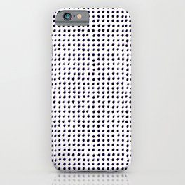 Dots (Shadowed) - Black x Lavender iPhone Case