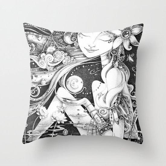 Ma Bella Luna Throw Pillow