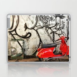 Red Vespa and graffitis Laptop & iPad Skin