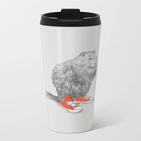 Woodchucks Metal Travel Mug