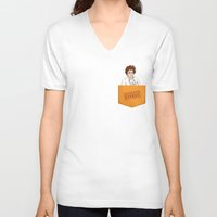 oitnb V-neck T-shirts featuring Red OITNB by StephDere