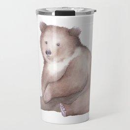Bear Watercolor Travel Mug