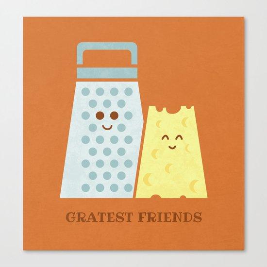 Cheesy Friendship Canvas Print