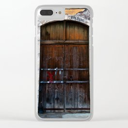 Sicilian facade of Taormina Clear iPhone Case
