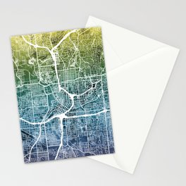 Atlanta Georgia City Map Stationery Cards
