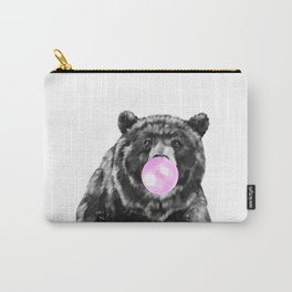 Bubble Gum Big Bear Black and White Carry-All Pouch