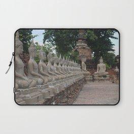 Buddha statues at Wat Yai Chai Mongkhon Laptop Sleeve