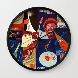 Russian Space Travel Wall Clock