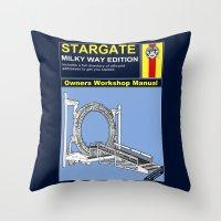 stargate Throw Pillows featuring Stargate by Paul Elder