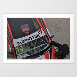 Racer cars Art Print