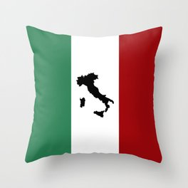 Italian Flag & Boot Throw Pillow