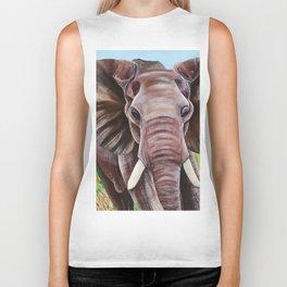 Elephant in the Grass Biker Tank