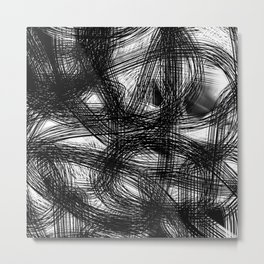 Abstract black white Design Metal Print