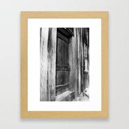 Door Between Shadows Framed Art Print