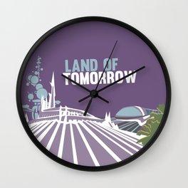 land of tomorrow Wall Clock